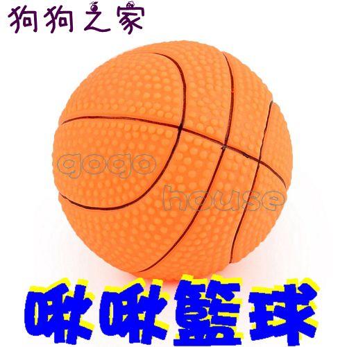 ☆狗狗之家☆寵物啾啾叫玩具~籃球