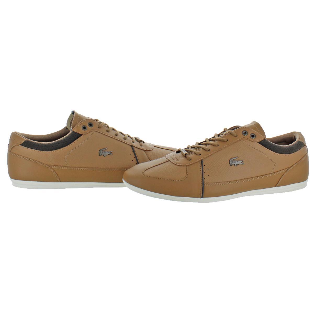 daaeaceb96 Lacoste Men's Evara Leather Embossed Low-Top Slimline Sneaker Shoes
