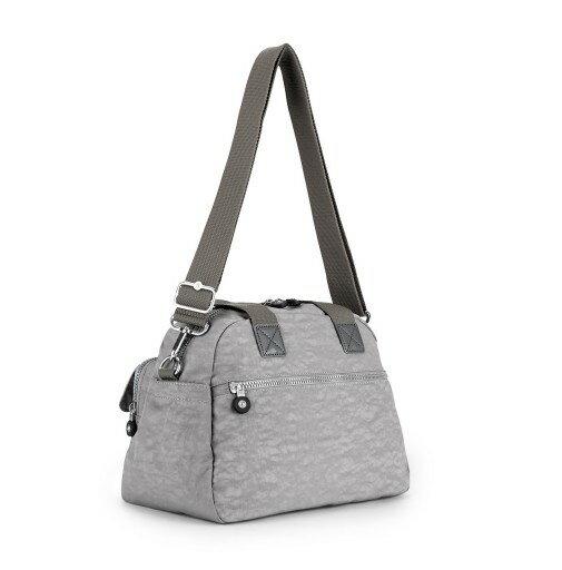 OUTLET代購【KIPLING】手提側背包 旅行袋 斜揹包 灰色 2