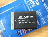 Canon數位單眼相機推薦到【中壢NOVA-水世界】CANON DB-NB13L NB13L NB-13L 副廠電池 副電【一年保固直接換新】G7X就在水世界3C推薦Canon數位單眼相機