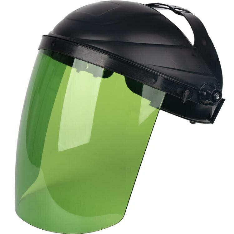 電焊面罩防飛濺防強光焊工面屏面照面卓防烤臉部輕便頭戴式防護罩
