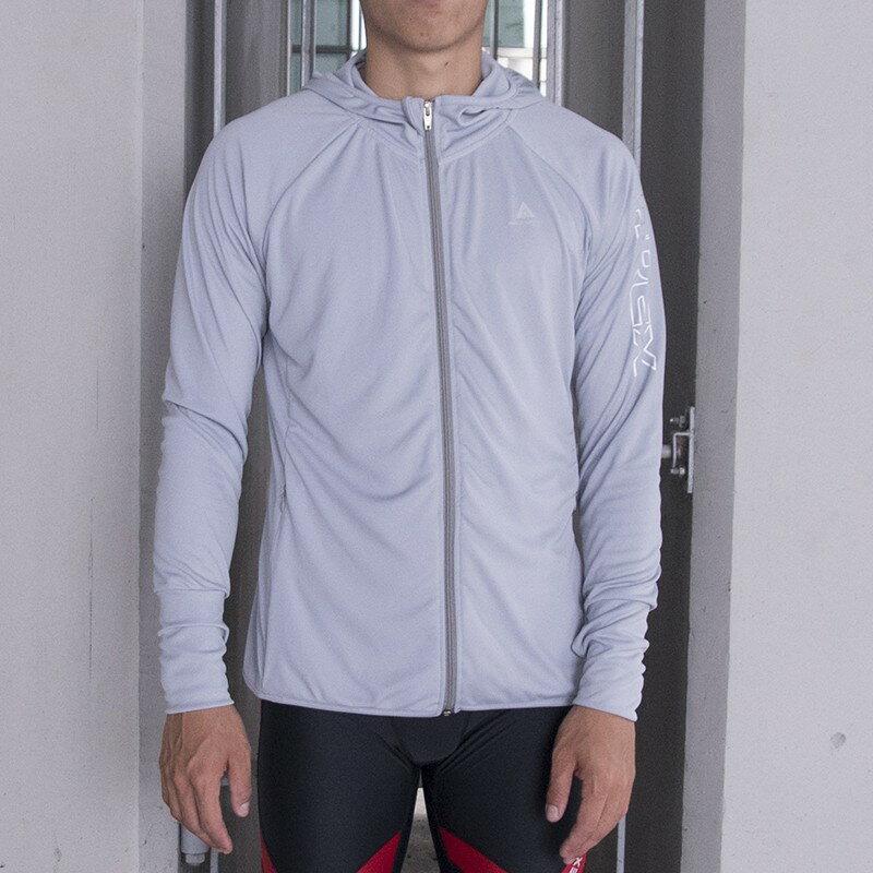 【高透氣機能服飾】AREX SPORT 反光修身連帽運動外套 運動修版型 男女共版 M-2L 0