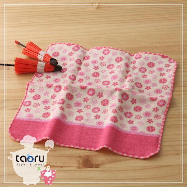 taoru:日本毛巾:町娘物語_八重櫻25*25cm(手巾花屋篇--taoru日本毛巾)
