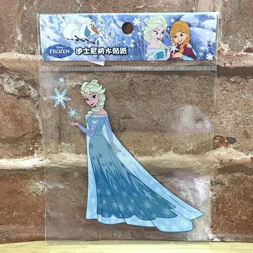 【真愛日本】17072400002 防水貼紙L-冰雪艾莎ELSA 迪士尼 冰雪奇緣 安娜 Anna 行李箱裝飾貼紙