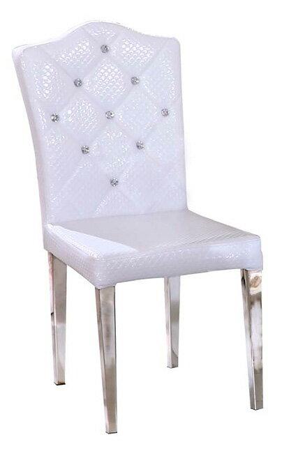 【 尚品傢俱】JF-481-11 雅典娜白鱷紋餐椅