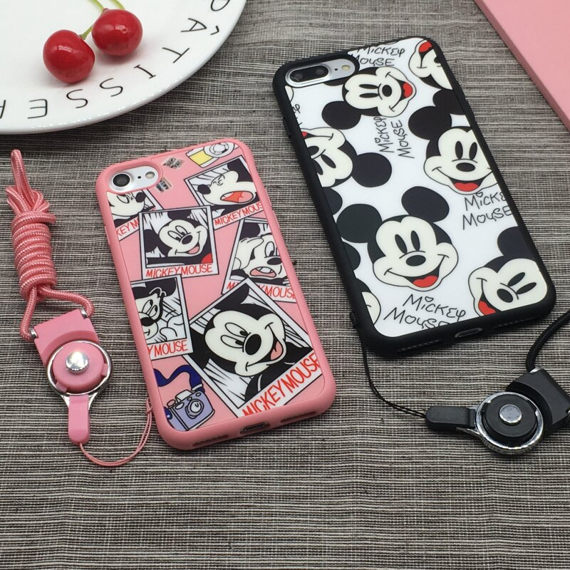 IPHONE8 IPHONE7 韓國 米奇 滿版 全包式TPU 軟邊手機殼 全機保護 不傷手機 帶掛繩孔