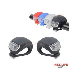 【HEYLIFE優質生活家】自行車燈 青蛙燈 腳踏車燈 前燈 尾燈 營繩燈 營釘燈 警示燈 附送水銀電池