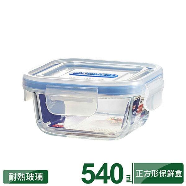 理想牌英國皇家微波烤箱耐熱玻璃保鮮盒正方形540ml便當盒野餐盒-大廚師百貨