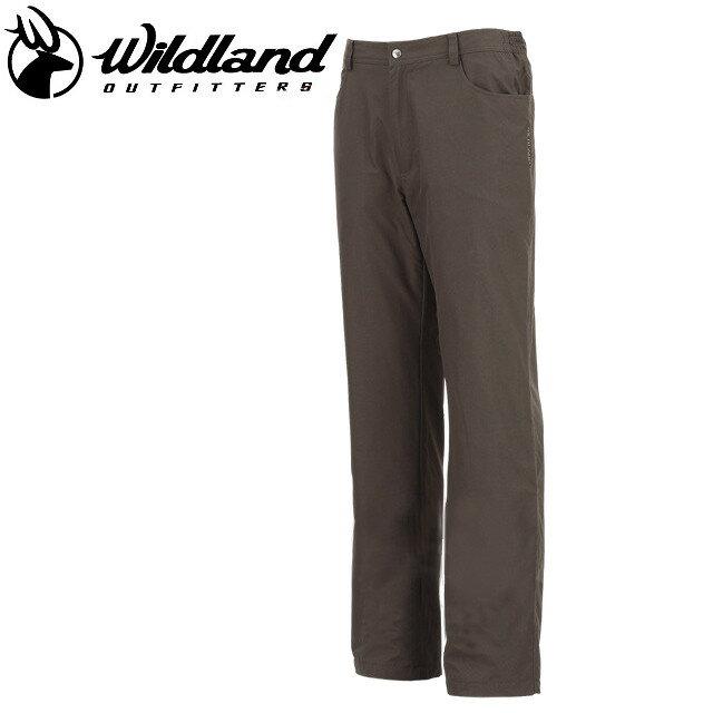 荒野 Wildland 防風褲休閒褲/保暖褲/滑雪/旅遊/ 男防風防潑水保暖長褲 W2302-63深卡其