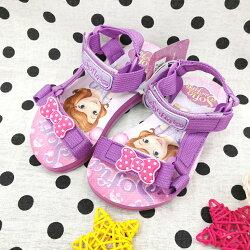 【巷子屋】蘇菲亞小公主-童款輕量織帶涼鞋 [77517] 紫 MIT台灣製造 超值價$200