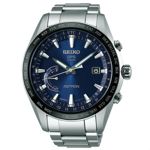SeikoAstron8X22-0AG0A(SSE109J1)太陽能GPS對時鈦金屬腕錶藍面44.8mm