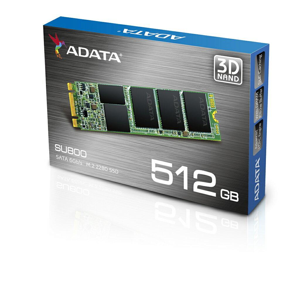 ADATA Ultimate SU800 3D NAND M.2 2280 Internal SSD 512GB (ASU800NS38-512GT-C) 1