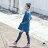 【mini maru.a】童裝親子裝彩色方塊印花長版牛仔襯衫(2色)7953211 4