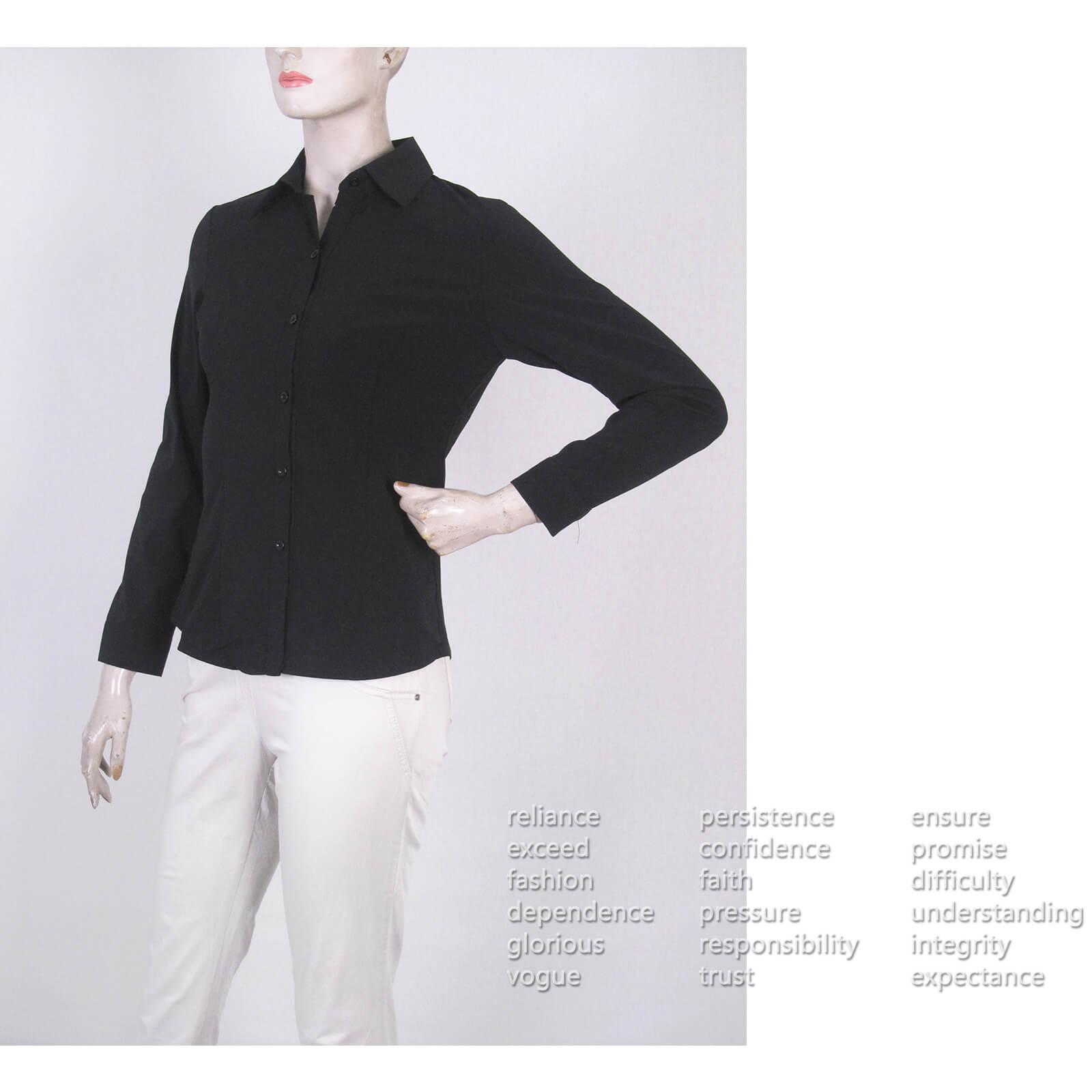 腰身剪裁淑女素面襯衫 修身長袖襯衫 合身顯瘦標準襯衫 正式襯衫 面試襯衫 上班族襯衫 商務襯衫 防曬襯衫 (333-A261-01)素面白色襯衫、(333-A261-21)素面黑色襯衫 胸圍32~50英吋 [實體店面保障] sun-e333 9
