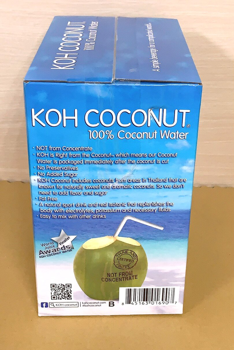 好市多 KOH 純椰子汁 一箱 6入 椰子水 降火 限宅配