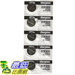 [106美國直購] Energizer CR1616 3V Lithium Battery -Pack of 5