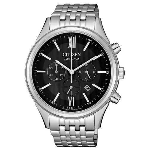CITIZEN超質感三眼計時光動能腕錶CA4410-84E