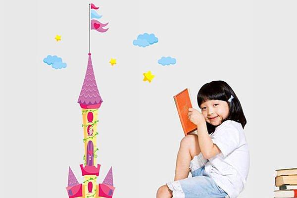 BO雜貨【YV2631】可移動 時尚組合壁貼 牆貼 壁貼紙 創意璧貼 兒童房佈置 城堡