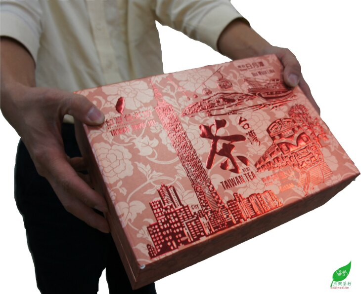 【杰興茶行X伙伴禮盒】四季烏龍 V.S. 黃金烏龍 +台灣茶 -- 台北101 [BUDDY GIFT TEA BOX]  Four Season Oolong x Gold Oolong