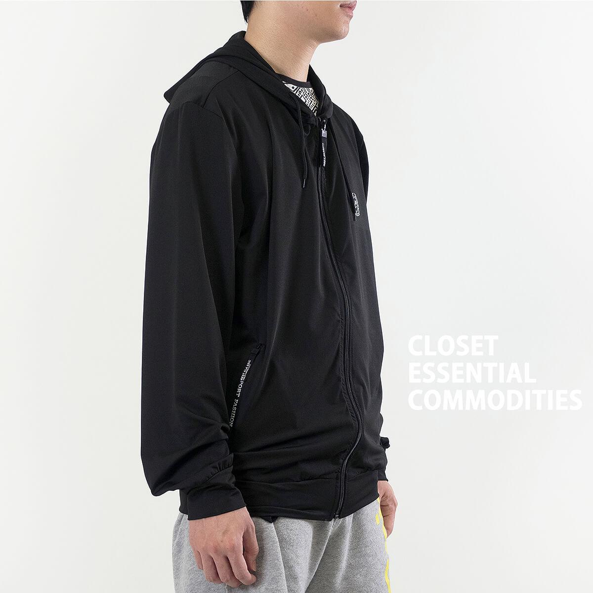 加大尺碼防曬外套 防風遮陽薄外套 柔軟輕薄休閒外套 連帽外套 運動外套 黑色外套 Sun Protection Jackets Mens Jackets Casual Jackets (321-0516_0517-21)黑色、(321-0516_0517-22)紋理灰 3L 4L 5L 6L (胸圍122~140公分  48~55英吋) 男 [實體店面保障] sun-e 6