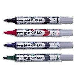 Pentel飛龍 MWL5S 後壓式白板筆 4mm 圓頭細字 / MWL5M 直液式後壓白板筆 6mm 粗圓