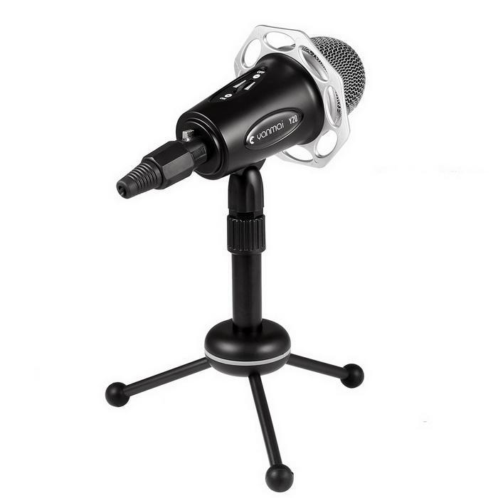 Condenser Microphone With Tripod Stand for PC Laptop Computers Sound Studio Podcast Recording 5