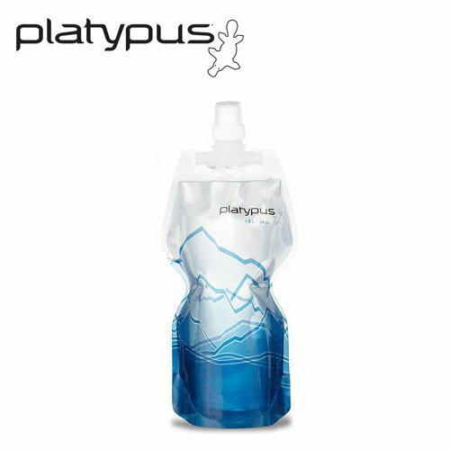 ├登山樂┤美國PlatypusSoftBottle軟式運動水瓶1L-冰山#PLATY-06873