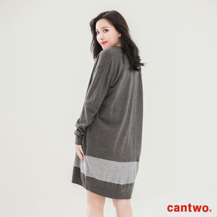 cantwo素色長版針織罩衫(共三色) 3