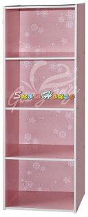 ╭☆雪之屋居家生活館☆╯R553-131415彩色四格組合櫃書櫃書架置物櫃雜物櫃DIY自組