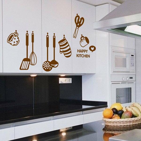 BO雜貨:BO雜貨【YV0673】DIY時尚裝飾組合可移動壁貼牆貼壁貼創意壁貼下廚工具AY6017