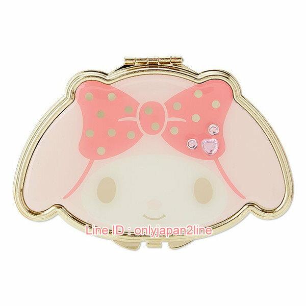 【真愛日本】4901610274026 隨身雙面鏡-MM    三麗鷗家族 Melody 美樂蒂   隨身鏡 鏡子 日本帶回