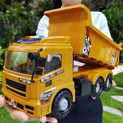 兒童挖掘機 兒童挖掘機挖機挖土機大號大吊車翻鬥男孩玩具工程車系列汽車模型T