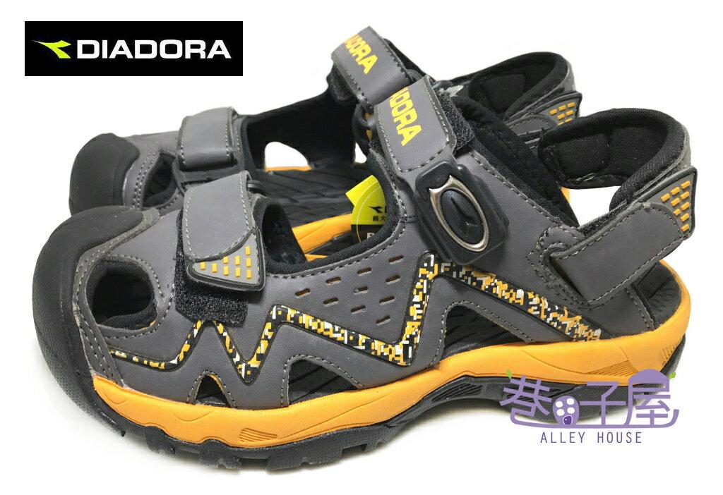 【巷子屋】義大利國寶鞋-DIADORA迪亞多納 男款三大機能兩用排水磁扣護趾涼鞋 拖鞋 [2088] 灰黃 超值價$498