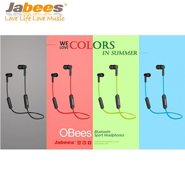 Jabees OBees 藍牙4.1 時尚運動防水耳機 公司貨保固一年