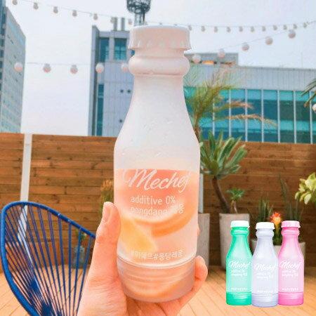 韓國 mechef BPA~FREE 雙開蓋果漾矽膠水瓶 1入  水果乾水 隨身杯 隨行杯
