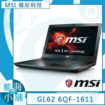 MSI 微星 GL62 6QF-1611 15.6吋 电竞 笔记型电脑 (i5-6300HQ/GTX960M-2G/1TB/W10)