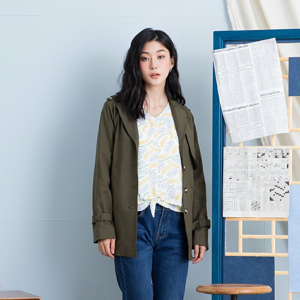 【MASTINA】百搭必備綁結風衣-外套(三色/版型適中)