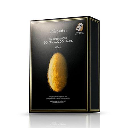 韓國JMsolution水光黃金蠶絲面膜(10片入盒裝)45gx10蠶絲面膜保濕面膜【B063221】