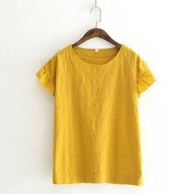 短袖T恤純色上衣-古典優雅刺繡木耳邊女打底衫3色73sy7【獨家進口】【米蘭精品】