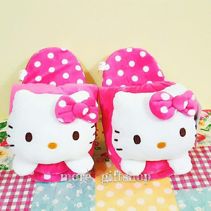 【more 禮品小舖】HELLO KITTY 造型室內拖鞋  枕頭 絨毛娃娃 玩偶