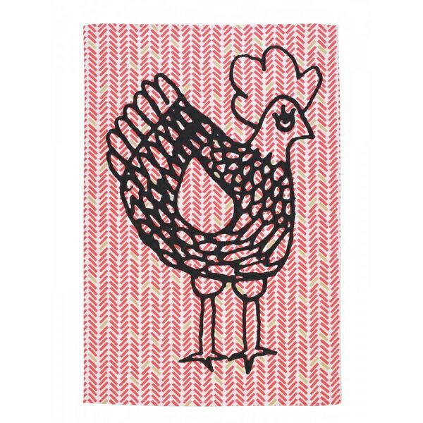 《法國 La Cocotte Paris》Red herringbone Cocotte Tea Towel 茶巾 2