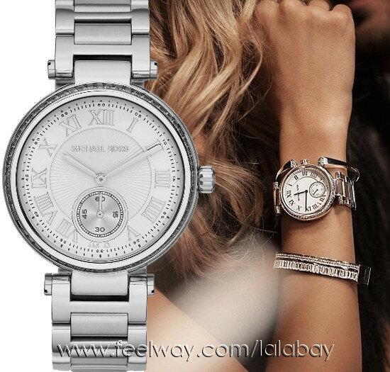 美國Outlet正品代購 MichaelKors MK 復古羅馬數字水鑽  陶瓷  三環 手錶 腕錶 MK5866 1