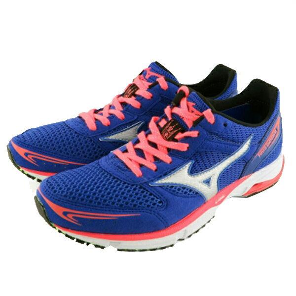 【MIZUNO】運動鞋 慢跑鞋 藍色(女) -J1GB167604
