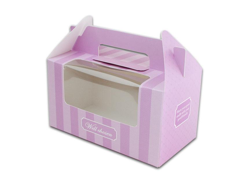 外帶盒、包裝盒、手提盒  2格提盒 MS-2-A(紫色布紋)5 pcs附底托