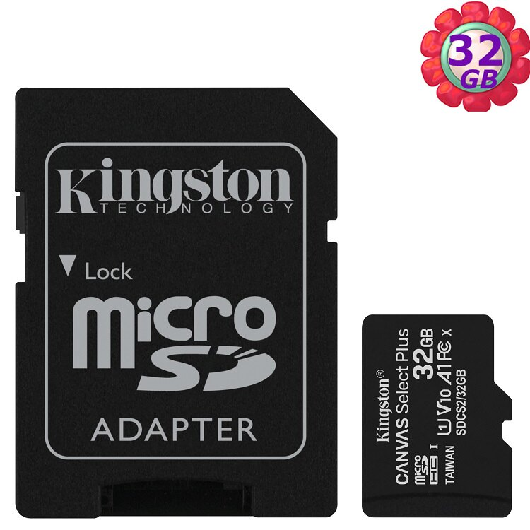 KINGSTON 32GB 32G microSDHC【100MB/s-Plus】microSD SDHC micro SD UHS U1 TF C10 Class10 SDCS2/32GB 金士頓 ..