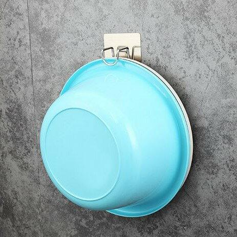 不銹鋼無痕臉盆掛鈎 / 收納架 不鏽鋼 無痕 掛勾 浴室 瓷磚 玻璃 免打孔 防水防油 黏貼 居家用品
