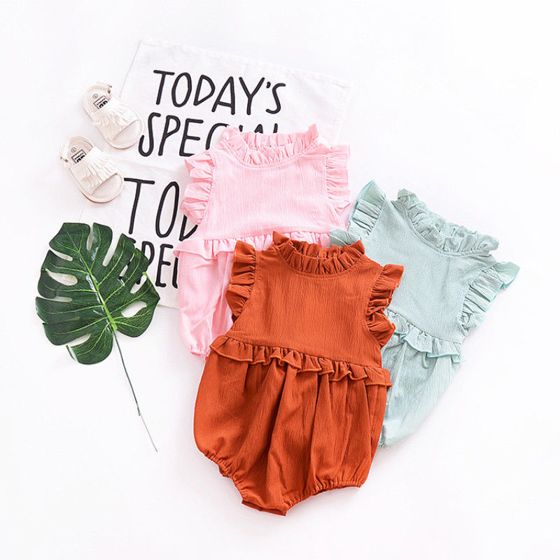 6ceed5e240e Newborn Baby Girl Ruffle Romper Jumpsuit Bodysuit Clothes Outfit Summer  Stock 3