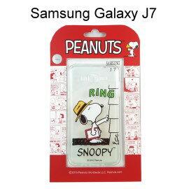 SNOOPY 史努比透明軟殼 [RING] Samsung J700F Galaxy J7【台灣正版授權】
