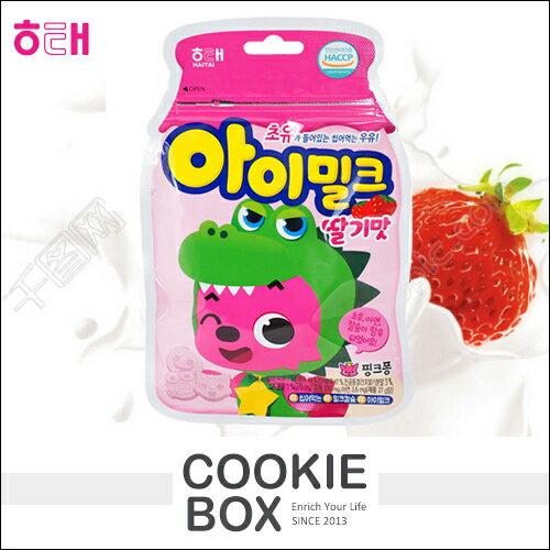 韓國HAITAI海太寶寶恐龍草莓味糖果27g*餅乾盒子*