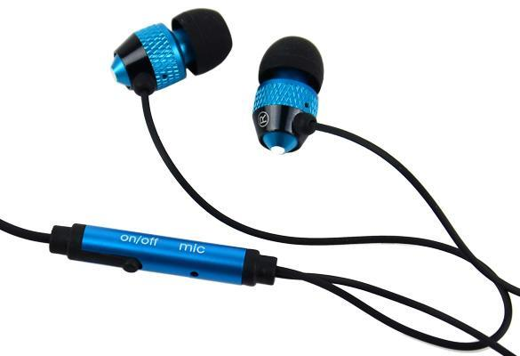 Blue 3.5mm Stereo In-ear Earphones Earbuds Handsfree For HTC iPad iPhone Samsung 2